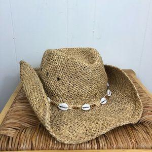 Panama Jack Straw Hat With Seashells
